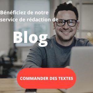 service de rédaction de blog
